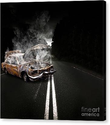 Jalopy Canvas Print - Broken Down Vehicle by Jorgo Photography - Wall Art Gallery