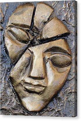 Broken Face Canvas Print by Rajesh Chopra