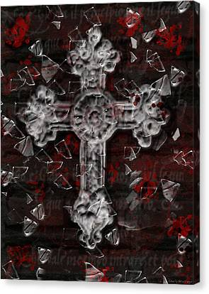 Broken Faith Canvas Print by Shelly Stallings
