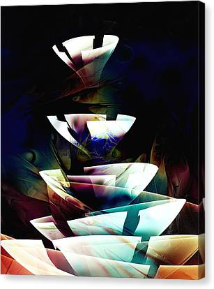 Canvas Print featuring the digital art Broken Glass by Anastasiya Malakhova