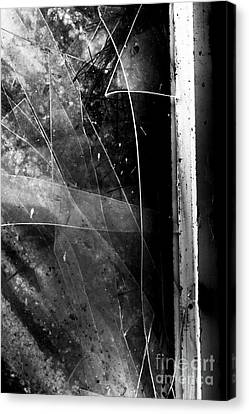 Damaged Canvas Print - Broken Glass Window by Jorgo Photography - Wall Art Gallery