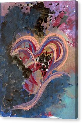 Broken Hearted Canvas Print by Helene Henderson