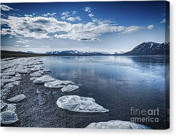Broken Ice Canvas Print by Svetlana Sewell