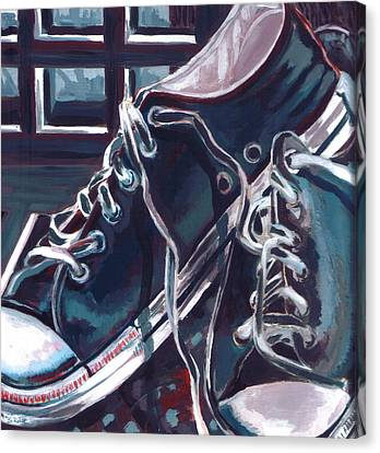 Broken-in Converse Canvas Print