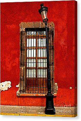 Broken Lamp Post Canvas Print by Mexicolors Art Photography