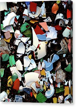 Canvas Print featuring the photograph Broken Memories by Art Shimamura