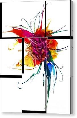 Broken Pattern By Nico Bielow Canvas Print