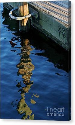 Broken Pier Canvas Print by Angie Bechanan