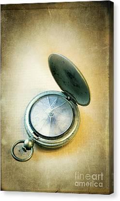 Broken Pocket Watch Canvas Print by Jill Battaglia