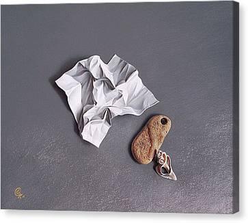 Broken Promise - 1 Canvas Print by Elena Kolotusha