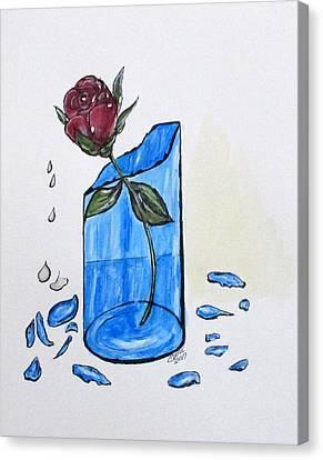 Broken Promise Rose Canvas Print