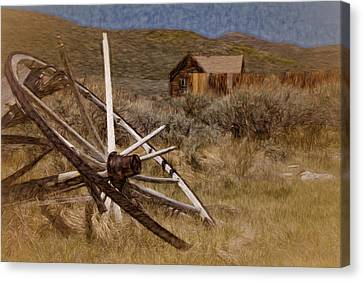 Canvas Print featuring the photograph Broken Spokes by Lana Trussell