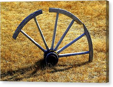 Canvas Print featuring the photograph Broken Spokes by Lynn Bawden
