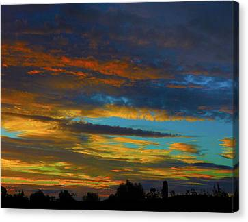 Canvas Print featuring the photograph Broken Sunset by Mark Blauhoefer