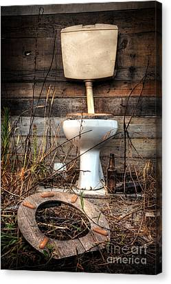 Toilet Canvas Print - Broken Toilet by Carlos Caetano