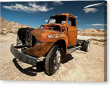 Not In Use Canvas Print - Broken Truck by Christian Hallweger