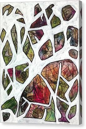 Broken Vase Scattered Petals Canvas Print by Garima Srivastava