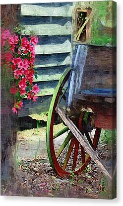 Canvas Print featuring the photograph Broken Wagon by Donna Bentley