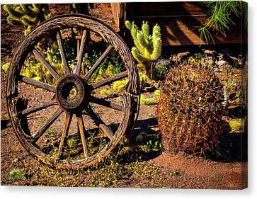 Wooden Wagons Canvas Print - Broken Wagonwheel by Garry Gay