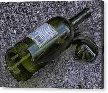 Broken Wine Bottle  Canvas Print by Robert Ullmann