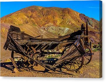 Broken Wooden Wagon Canvas Print by Garry Gay