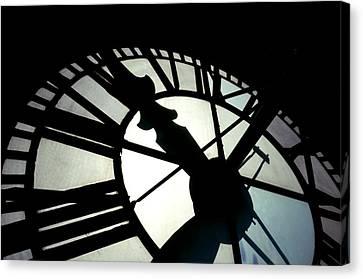 Antique Ironwork Canvas Print - Bromo Seltzer Tower Baltimore - Clock by Marianna Mills
