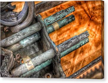 Component Canvas Print - Bromo Seltzer Tower's 1911 Seth Thomas Clock Mechanism Abstract #14 by Marianna Mills