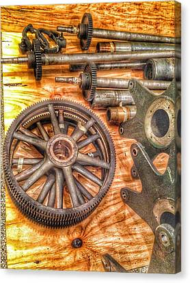 Component Canvas Print - Bromo Seltzer Tower's 1911 Seth Thomas Clock Mechanism Abstract #2 by Marianna Mills