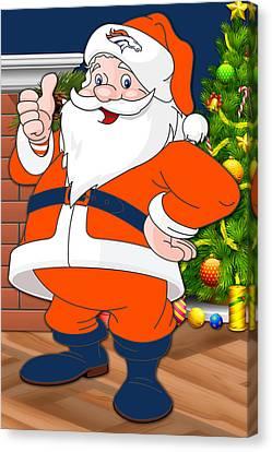 Broncos Santa Claus Canvas Print by Joe Hamilton