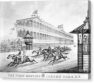 Bronx: Horse Race, 1866 Canvas Print by Granger