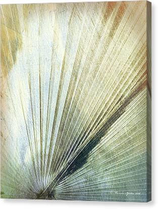 Bronze Blue Palm Frond Rh Canvas Print