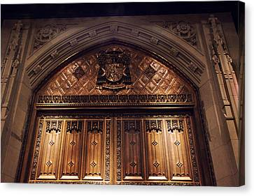 Bronze Doors Of St. Patrick's Canvas Print by Jessica Jenney