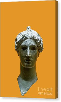 Bronze Head Of Nike  Canvas Print by Ilan Rosen