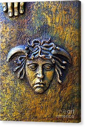 Bronze Medusa Canvas Print by Mexicolors Art Photography