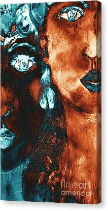 Bronze Sisters Painting Canvas Print