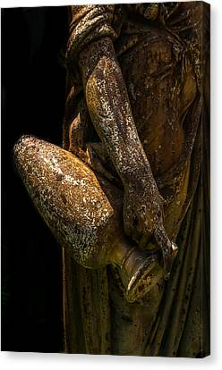 Women With Wine Canvas Print - Bronze Woman With Urn by Xavier Cardell