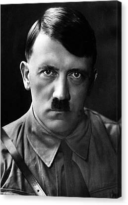 Brooding Portrait Of Adolf Hitler Heinrich Hoffman Photo Circa 1935 Canvas Print