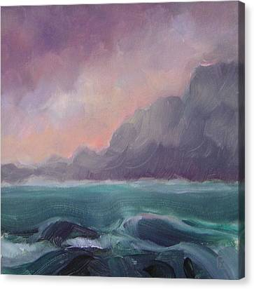 Brooding Tide Canvas Print by Mary Brooking