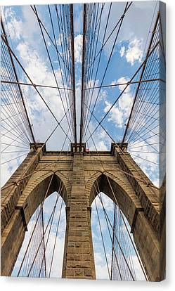 Canvas Print featuring the photograph Brooklyn Bridge 3 by Emmanuel Panagiotakis