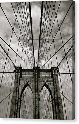 Brooklyn Bridge Canvas Print by Adrian Hopkins