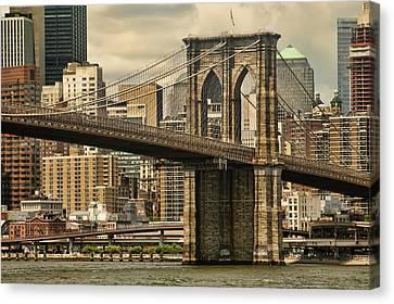 Brooklyn Bridge Canvas Print by Alexander Mendoza