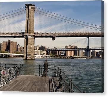 Brooklyn Bridge  Canvas Print by Andrew Kazmierski