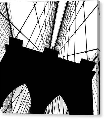 Brooklyn Bridge Architectural View Canvas Print by Az Jackson