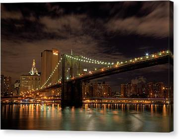 Brooklyn Bridge At Dusk Canvas Print by Shawn Everhart