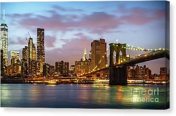 Brooklyn Bridge Blue Hour Canvas Print