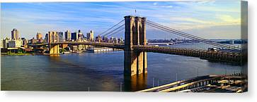 Brooklyn Bridge, Brooklyn View, New York Canvas Print by Panoramic Images