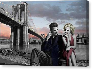 Elvis Presley Canvas Print - Brooklyn Bridge by Chris Consani