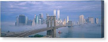 Brooklyn Bridge, East River, New York Canvas Print by Panoramic Images