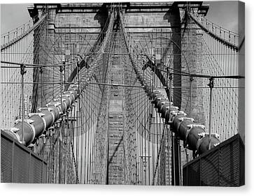 Canvas Print featuring the photograph Brooklyn Bridge by Emmanuel Panagiotakis
