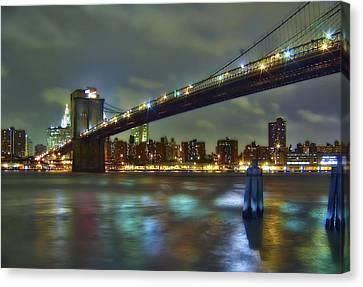 Brooklyn Bridge Canvas Print by Evelina Kremsdorf